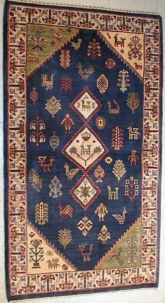 cleaning a rug at home
